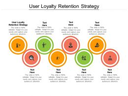 User Loyalty Retention Strategy Ppt Powerpoint Presentation Professional Ideas Cpb