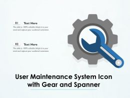 User Maintenance System Icon With Gear And Spanner