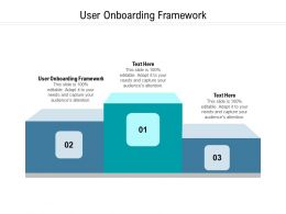 User Onboarding Framework Ppt Powerpoint Presentation Pictures Deck Cpb