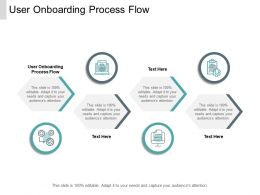User Onboarding Process Flow Ppt Powerpoint Presentation Inspiration Cpb