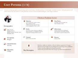 User Persona Motivations Ppt Powerpoint Presentation Layouts Slides
