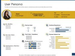 User Persona Process Of Requirements Management Ppt Formats