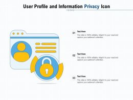 User Profile And Information Privacy Icon