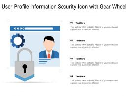 User Profile Information Security Icon With Gear Wheel