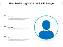 User Profile Login Account With Image