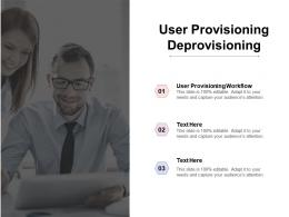 User Provisioning Deprovisioning Ppt Powerpoint Presentation Model Portrait Cpb