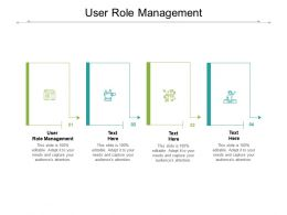 User Role Management Ppt Powerpoint Presentation Infographics Files Cpb