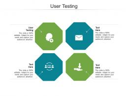 User Testing Ppt Powerpoint Presentation Gallery Example Topics Cpb