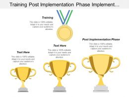User Training Post Implementation Phase Implementation Life Cycle
