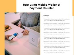 User Using Mobile Wallet At Payment Counter