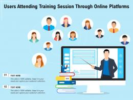 Users Attending Training Session Through Online Platforms