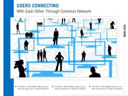 Users Connecting With Each Other Through Common Network