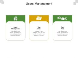 Users Management Ppt Powerpoint Presentation Summary Tips Cpb