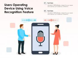 Users Operating Device Using Voice Recognition Feature