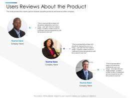 Users Reviews About The Product Equity Secondaries Pitch Deck Ppt Guidelines