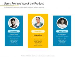 Users Reviews About The Product Financial Market Pitch Deck Ppt Icons