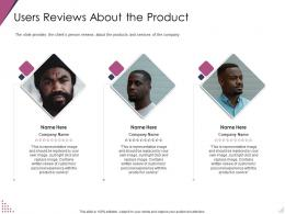 Users Reviews About The Product Pitch Deck For After Market Investment Ppt Summary