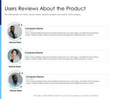 Users Reviews About The Product Raise Funds After Market Investment Ppt Download