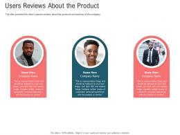 Users Reviews About The Product Secondary Market Investment Ppt Structure
