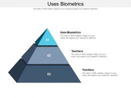 Uses Biometrics Ppt Powerpoint Presentation Professional Slide Cpb