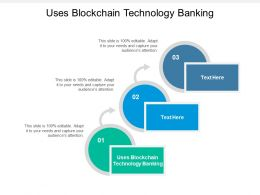 Uses Blockchain Technology Banking Ppt Powerpoint Presentation File Aids Cpb