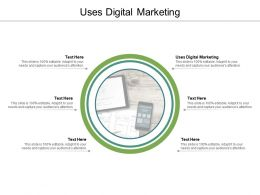 Uses Digital Marketing Ppt Powerpoint Presentation Infographics Slide Download Cpb
