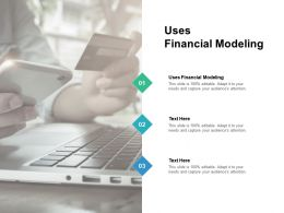 Uses Financial Modeling Ppt Powerpoint Presentation Portfolio Graphics Example Cpb