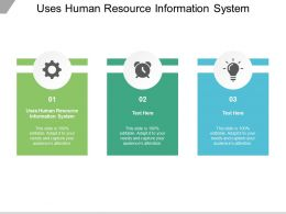 Uses Human Resource Information System Ppt Powerpoint Presentation Image Cpb