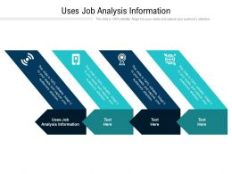 Uses Job Analysis Information Ppt Powerpoint Presentation Gallery Graphics Cpb
