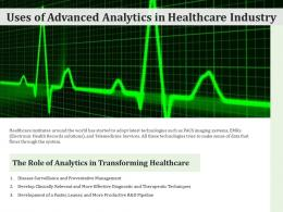Uses Of Advanced Analytics In Healthcare Industry