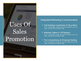 Uses Of Sales Promotion Powerpoint Slide Show