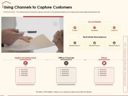 Using Channels To Capture Customers Market Place Ppt Powerpoint Presentation Show Slide Download