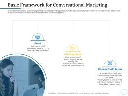 Using Chatbot Marketing Capturing More Leads Basic Framework For Conversational Marketing Ppt Powerpoint Files
