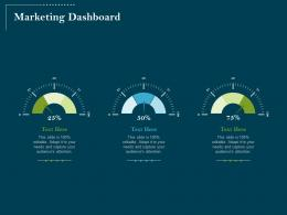 Using Digital Technology Transforming Processes Marketing Dashboard Ppt Powerpoint Icon