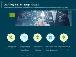 Using Digital Technology Transforming Processes Our Digital Strategy Goals Ppt Model
