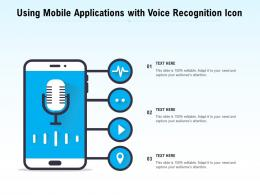 Using Mobile Applications With Voice Recognition Icon