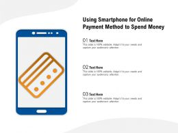 Using Smartphone For Online Payment Method To Spend Money