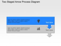 Ut Two Staged Arrow Process Diagram Powerpoint Template Slide