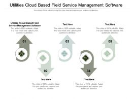 Utilities Cloud Based Field Service Management Software Ppt Powerpoint Presentation Summary Background Images Cpb