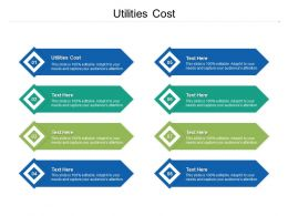Utilities Cost Ppt Powerpoint Presentation Icon Samples Cpb