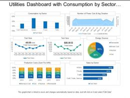 Utilities Dashboard With Consumption By Sector And Energy Sources