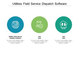 Utilities Field Service Dispatch Software Ppt Powerpoint Presentation Gallery Rules Cpb
