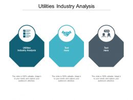 Utilities Industry Analysis Ppt Powerpoint Presentation Outline Graphics Pictures Cpb