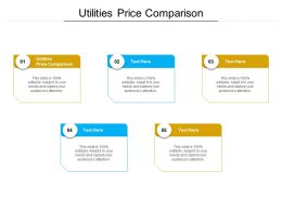 Utilities Price Comparison Ppt Powerpoint Presentation Gallery Styles Cpb