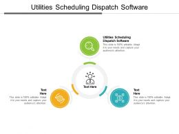 Utilities Scheduling Dispatch Software Ppt Powerpoint Presentation Portfolio Visual Aids Cpb