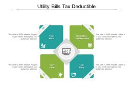 Utility Bills Tax Deductible Ppt Powerpoint Presentation File Model Cpb