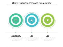 Utility Business Process Framework Ppt Powerpoint Presentation Professional Deck Cpb