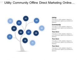 Utility Community Offline Direct Marketing Online Display Advertising