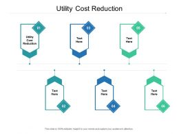 Utility Cost Reduction Ppt Powerpoint Presentation Model Outline Cpb