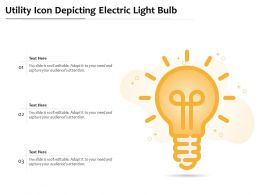 Utility Icon Depicting Electric Light Bulb